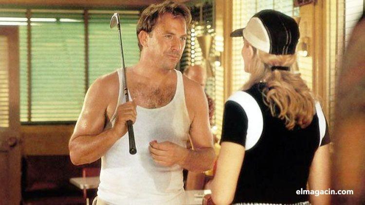 Kevin Costner y Rene Russo en Tin Cup. El Magacín.