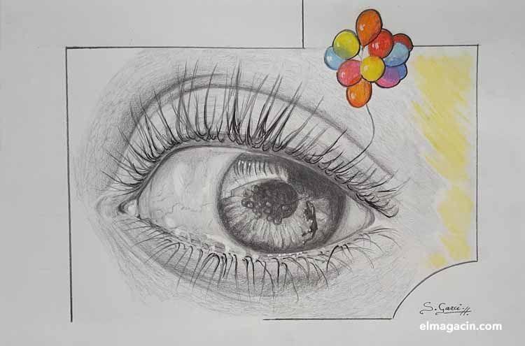 Dibujo de un ojo. El Magacín.