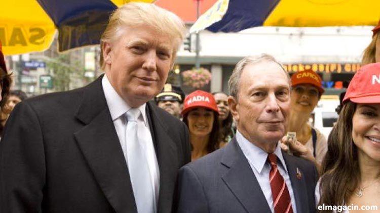 Michael Bloomberg, el hombre más rico de Nueva York, y Donald Trump
