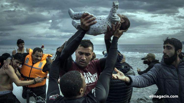 Drama de los refugiados en la isla griega de Lesbos. El Magacín.