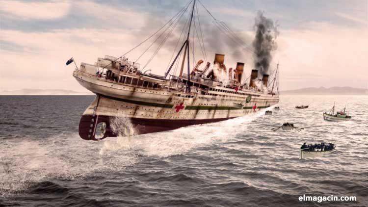 El hundimiento del Britannic. El Magacín.