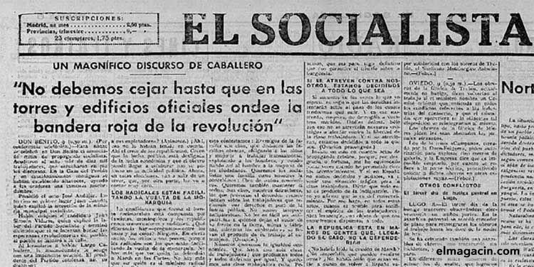 El Socialista en 1936. El Magacín.