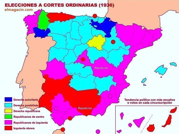 Elecciones a Cortes ordinarias de 1936. El Magacín.