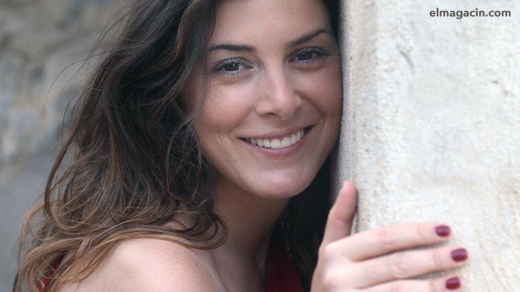 Patricia Morueco durante la entrevista para el Magacín