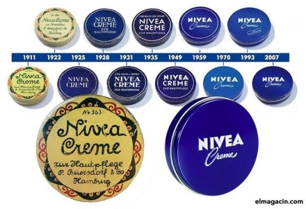 Evolución del logo de NIVEA
