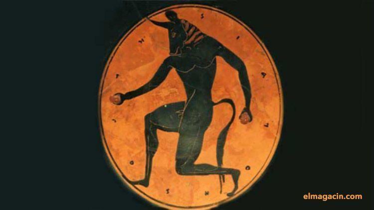 Figura de Minotauro en vasija