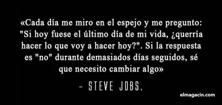 Persona que no hace nada. Frase motivacional de Steve Jobs. El Magacín.