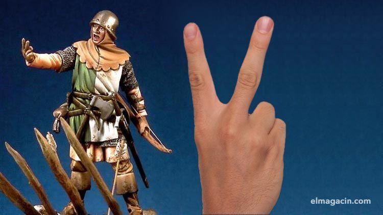 Gesto de mostrar dos dedos en Inglaterra. El Magacín.