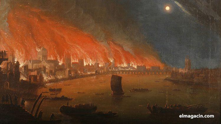 Gran Incendio de Londres de 1666. El Magacín.