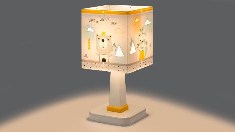 Lámpara con dibujos infantiles