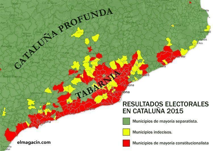 Mapa de municipios de Tabarnia. El Magacín.