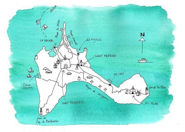 Map of Formentera. The magazine