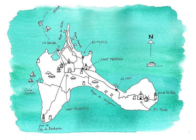 Mapa de Formentera. El Magacín.