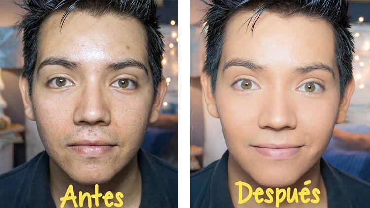 Maquillaje para hombres. El Magacín.