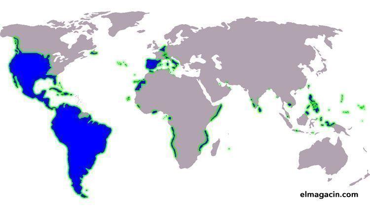 Territorios que alguna vez han pertenecido al imperio español.