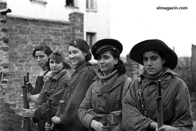 Milicianas republicanas en la Guerra Civil Española