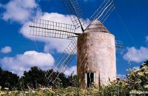 Molinos de la isla de Formentera. El Magacín.