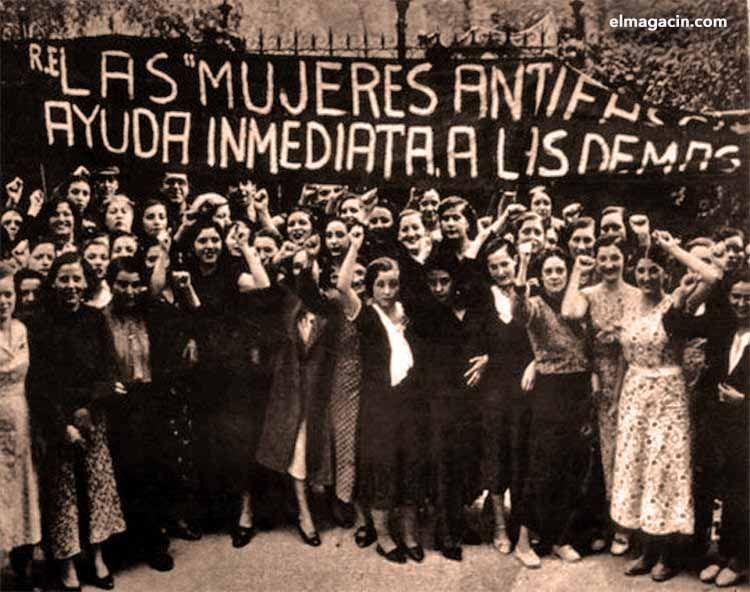 Mujeres antifascistas activistas del AMA. El Magacín.