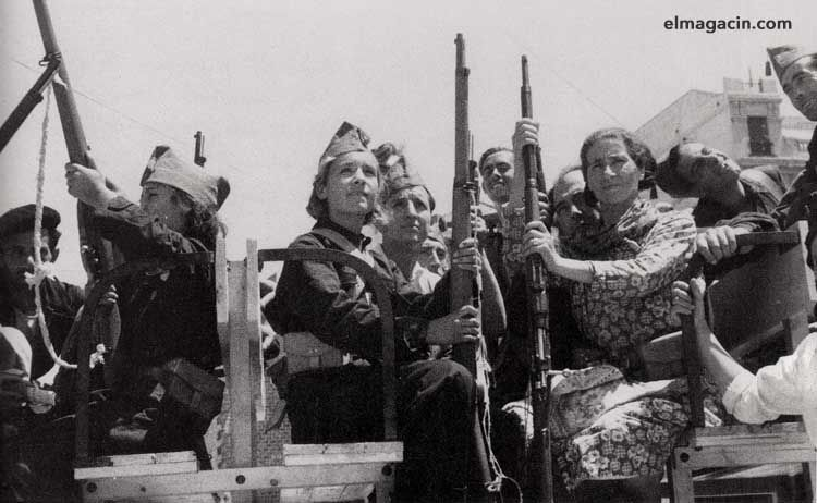 Mujeres milicianas en la Guerra Civil Española. El Magacín.
