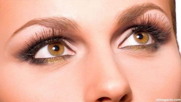 Ojos color ámbar