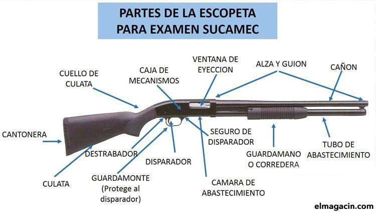 Partes de una escopeta. Escopetas superpuestas, de balines, perdigones y aire comprimido