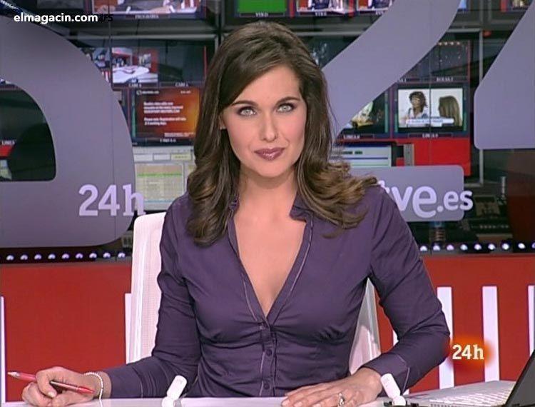 Presentadoras españolas. Raquel Martínez, presentadora del telediario de Televisión Española.