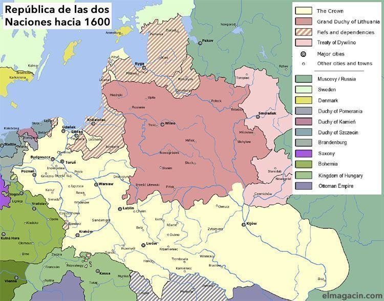 República de las Dos Naciones hacia 1600. El Magacín.