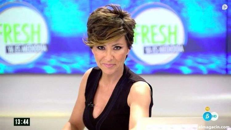 La presentadora española de televisión Sonsoles Ónega Salcedo
