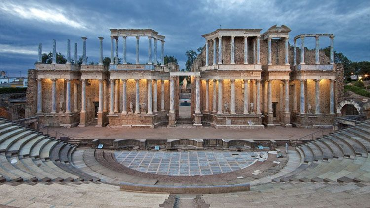 Teatro de la ciudad romana de Emerita Augusta (Mérida)