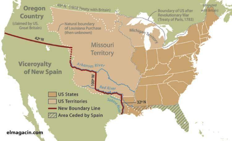 Territorio cedido por España a Estados Unidos. El Magacín.