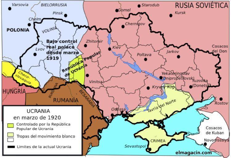 Ucrania en marzo de 1920. El Magacín.