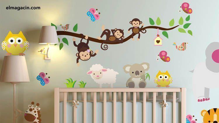 Vinilos infantiles decorativos para pared. El Magacín.