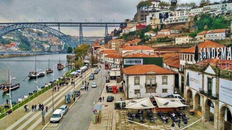 Vista general de Oporto